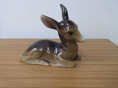 Vintage W.R Midwinter Large Fawn Deer Excellent Figurine England Burslem • 18£