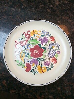 Poole Pottery - Hand Painted Birds & Flowers Plate - Very Nice! • 4.95£
