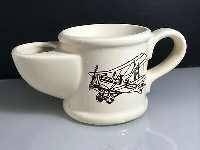 Royal Victoria Wade Pottery Ceramic Shaving Mug With Vintage Bi-plane Design • 9.99£