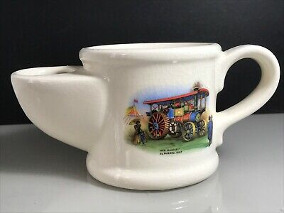 Royal Victoria Wade Pottery Ceramic Shaving Mug With Vintage Steam Engine Design • 9.99£
