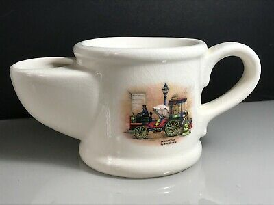 Royal Victoria Wade Pottery Ceramic Shaving Mug With Vintage Steam Car Design • 9.99£