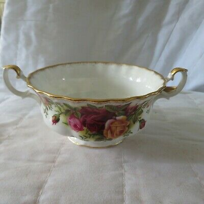 Stunning Royal Albert Old Country Roses 2 Handle Soup Bowls • 8.50£