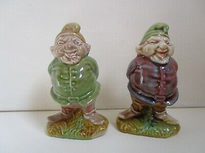 Irish Wade Two Large Gnomes - 3.5 Inches Tall • 8£