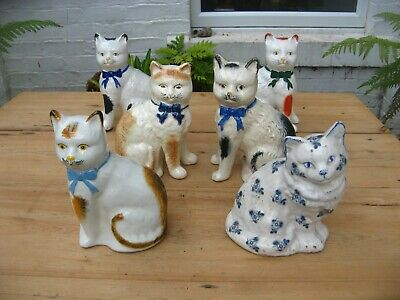 Vintage Ceramic Cats Fireside Wally • 30£
