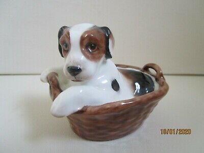 Royal Doulton Terrier Puppy In Basket • 16£