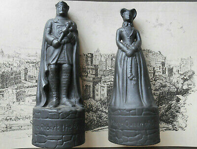 Wade Beneagles Whisky Decanter Figures Mary Q Of Scots & K Robert The Bruce • 12£
