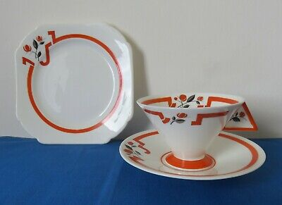 Shelley 'J' Pattern 11739 Vogue Tea Trio - Art Deco - Excellent • 240£