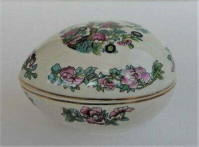 Lord Nelson Pottery China Egg Shape Trinket Box • 1.99£