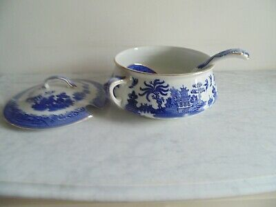 Gibson & Sons Ltd Willow Pattern 1912 Soup Tureen And Ladle. • 12.99£