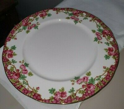 ROYAL SUTHERLAND VINTAGE DINNER PLATE -PINK ROSE DESIGN -Pre Owned • 4.99£