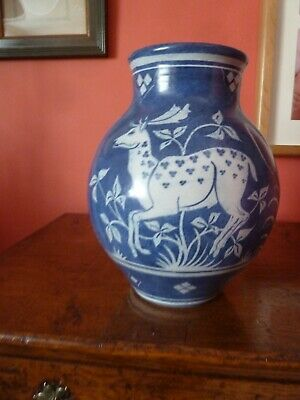 Lawrence McGowan Hand Made Pottery Vase Influenced By W. De Morgan Arts & Crafts • 60£