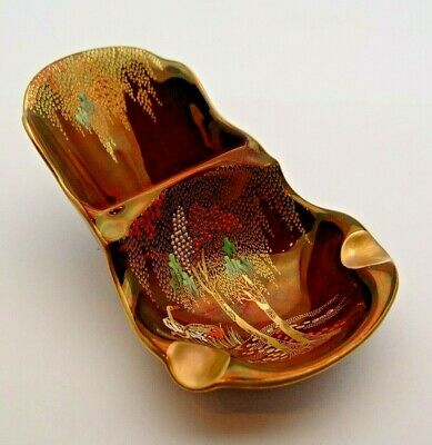 Gilded Carlton Ware Rouge Royale Ash Tray - Storks & Willows #2 - Perfect • 9.99£