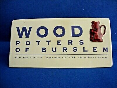 Woods Pottery Shop China Display Cabinet Collection Advertising Dealer Sign • 14.95£