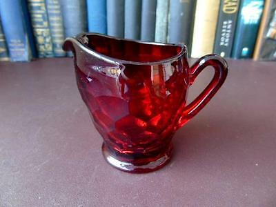 Antique Ruby Glass Jug • 24.99£