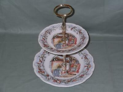 Royal Doulton Brambly Hedge 2-Tier Cake Stand (Winter) First Quality • 29.99£