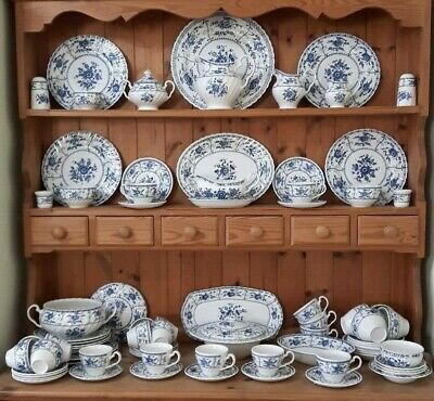 Johnson Brothers Indies Blue & White Dinner & Tea Set Items - Sold Individually • 25£