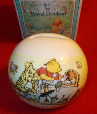 Winnie The Pooh Money Box A Christening Gift Royal Doulton • 28£