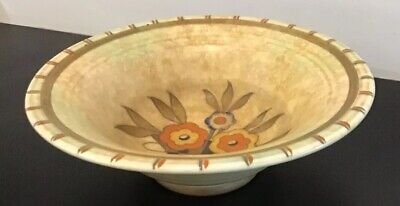 1930's / 40's, Charlotte Rhead / Crown Ducal, Floral Bowl, Signed To The Base. • 68£