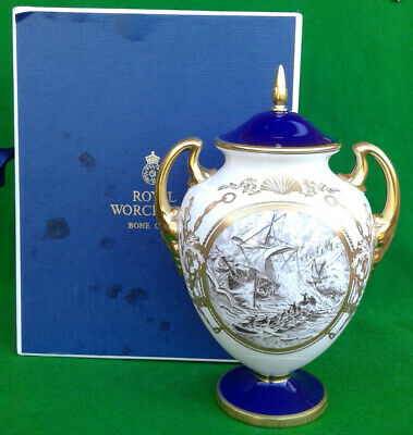 ROYAL WORCESTER - RNLI 150th ANNIVERSARY VASE - LIMITED EDITION – BOXED – A/F. • 39.99£
