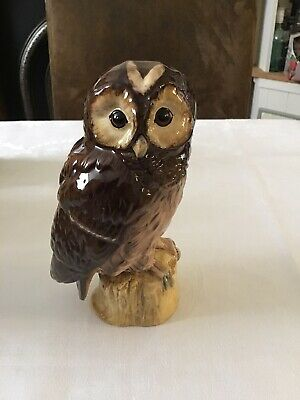 Royal Doulton Owl - Tawny Owl, Whyte And Mackay Flask • 30£