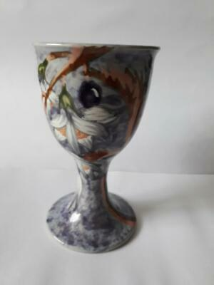 Cobridge Goblet By Moorcroft's Anji Davenport Decorated In Cherry Blossom 1999! • 36.99£