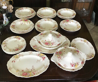 25 Pcs Of Antique Crown Ducal Rydal Table Ware Inc. Tureens. Some Pcs A/F • 95£