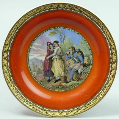 Victorian Pratt Ware Pottery Pot Lid Plate 'the Thirsty Soldier' C.1870 • 18£