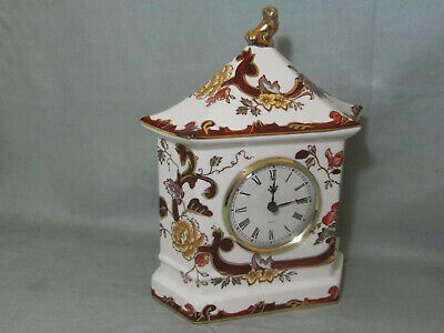 Masons Brown Velvet Mantle Clock 7¾  Tall • 20£