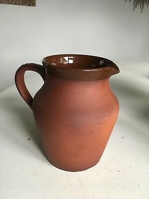 Terracotta And Salt Glazed Vintage  Jug In Excellent Condition! • 9.99£