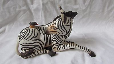 Franklin Mint Porcelain Zebra And Bird Happy Landing Perfect Freepost • 34.99£