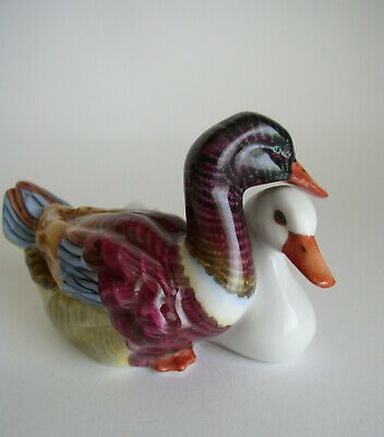 Herend Excellent Hand Painted Pair Of Ducks - Model 5036 • 59£