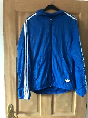Men's Adidas Blue Cagoule, Size Small. • 2.50£