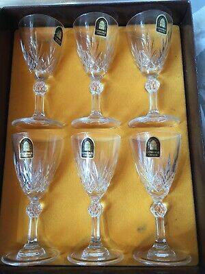 Cathedral Crystal By Dema Italian 24% Lead Crystal Sherry Glasses Set Of 6  • 2.80£