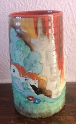 Clarice Cliff Art Deco Pottery Spill Vase Forest Glen • 150£