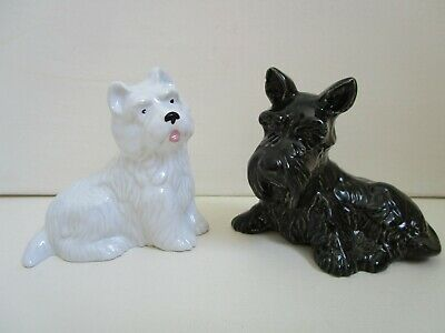 Wade Two Highland Terrier Scottie Dogs Black And White • 12£
