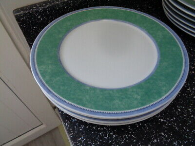 VILLEROY & BOCH SWITCH 3 COSTA DINNER PLATES X 4 - Tiny Nick To One See Photo • 40£