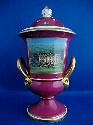 Spode Ltd Edition Pierced Lidded 2 Handled Chatworth Vase Handpainted 164/250 • 74.95£