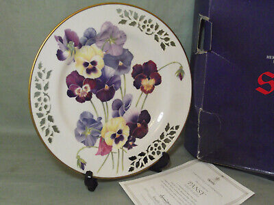 Spode Pansy Botanical Plate Collection Limited Edition Boxed With COA • 35£