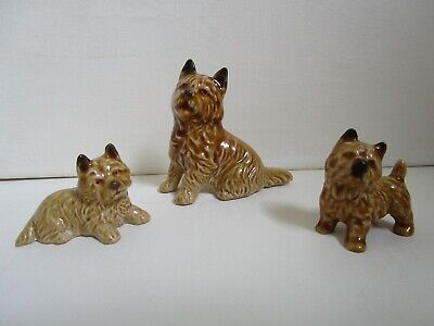 Wade Set Of 3 Cairn Terrier Dogs - Mother And 2 Pups • 8£