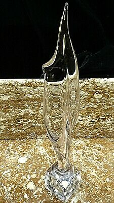 Daum France Unltra Modern Art Glass Crystal Torch Flame Sculpture 19 Inches • 409.96£