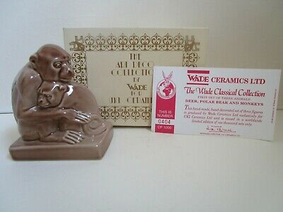 Wade Art Deco Collection Monkeys With Original Box And Certificate • 22£