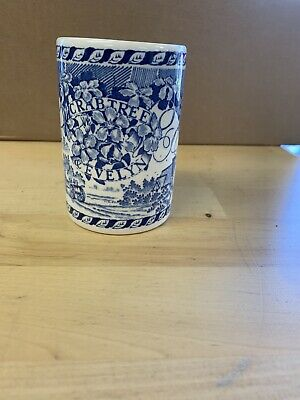 ❀ڿڰۣ❀ MASONS Ironstone CRABTREE & EVELYN Blue & White BEAKER / TOOTHBRUSH HOLDER • 9.99£
