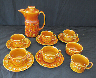 Lord Nelson Pottery- Celtic Design-honey Colour-cups-saucers-teapot-sugar Bowl  • 5£