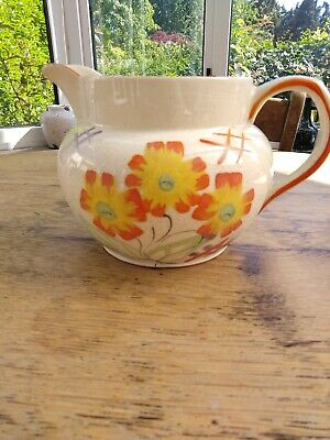 Art Deco Arthur Wood Hand Painted  Pottery Floral Jug • 6.50£