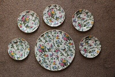"Royal Tudor Ware ""Lorna Doone"" Large Cake Plate & 5 Small Plates • 39.95£"