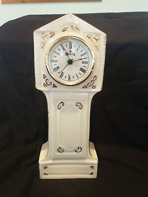 Donegal Parian China Grandfather Mantle Clock 25½cm Tall  • 5£