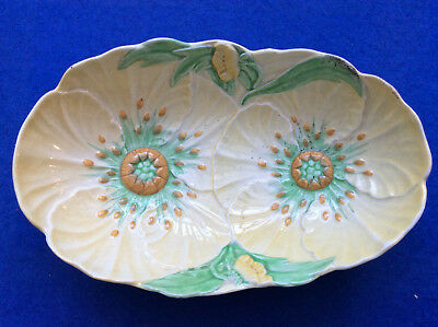 Carlton Ware 1395 'Buttercup' Pattern Oval Fruit Bowl Or Serving Dish, 1936 • 35£