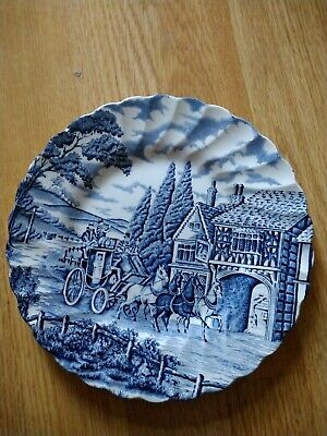 Myott Royal Mail Blue And White Plate • 4.99£
