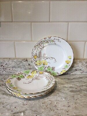Plant Tuscan China Side Plates X4 • 9.55£