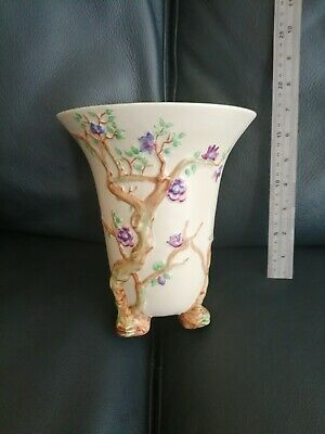 Clarice Cliff - Newport Pottery - Hand Painted Tree Decorated Vase - Art Deco! • 15£